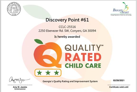 child care, childcare, daycare, quality rated, rated, conyers, bright from the start