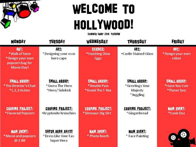Welcome to Hollywood Summer Camp 2016 Preview