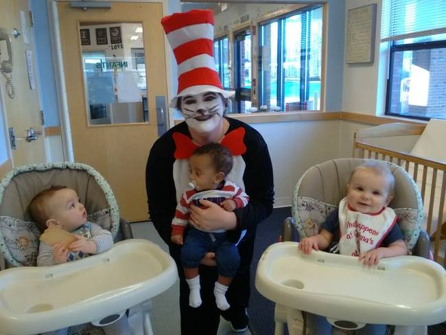 Dr. Seuss, NEA, Read Across America, reading, childcare, child care, children, Cat in the Hat, The Lorax, Fox in Sox, daycare, preschool, early education, Thing 1 and Thing 2, Green Eggs and Ham