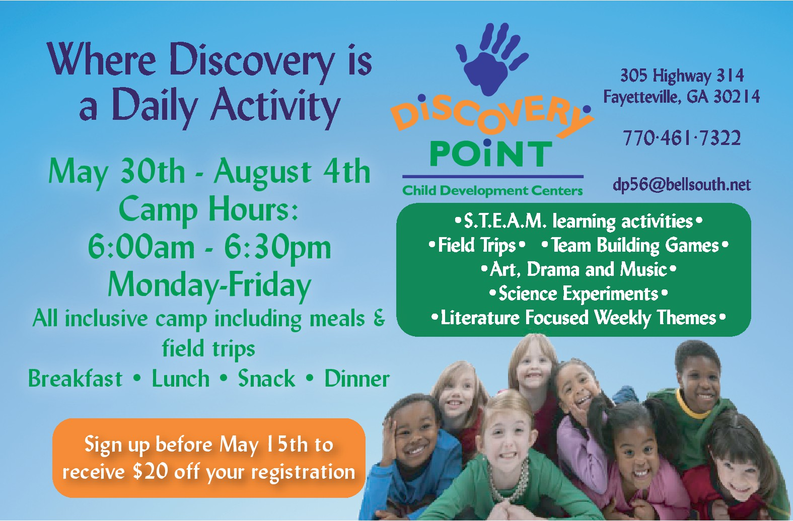 Discovery Point New Hope Summer Camp 2017