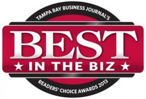 Tampa Bay Business Journal's Readers' Choice Awards 2013 Best in the Biz