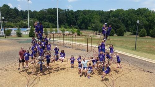 kids participating in team-building activities at our summer camp in snellville