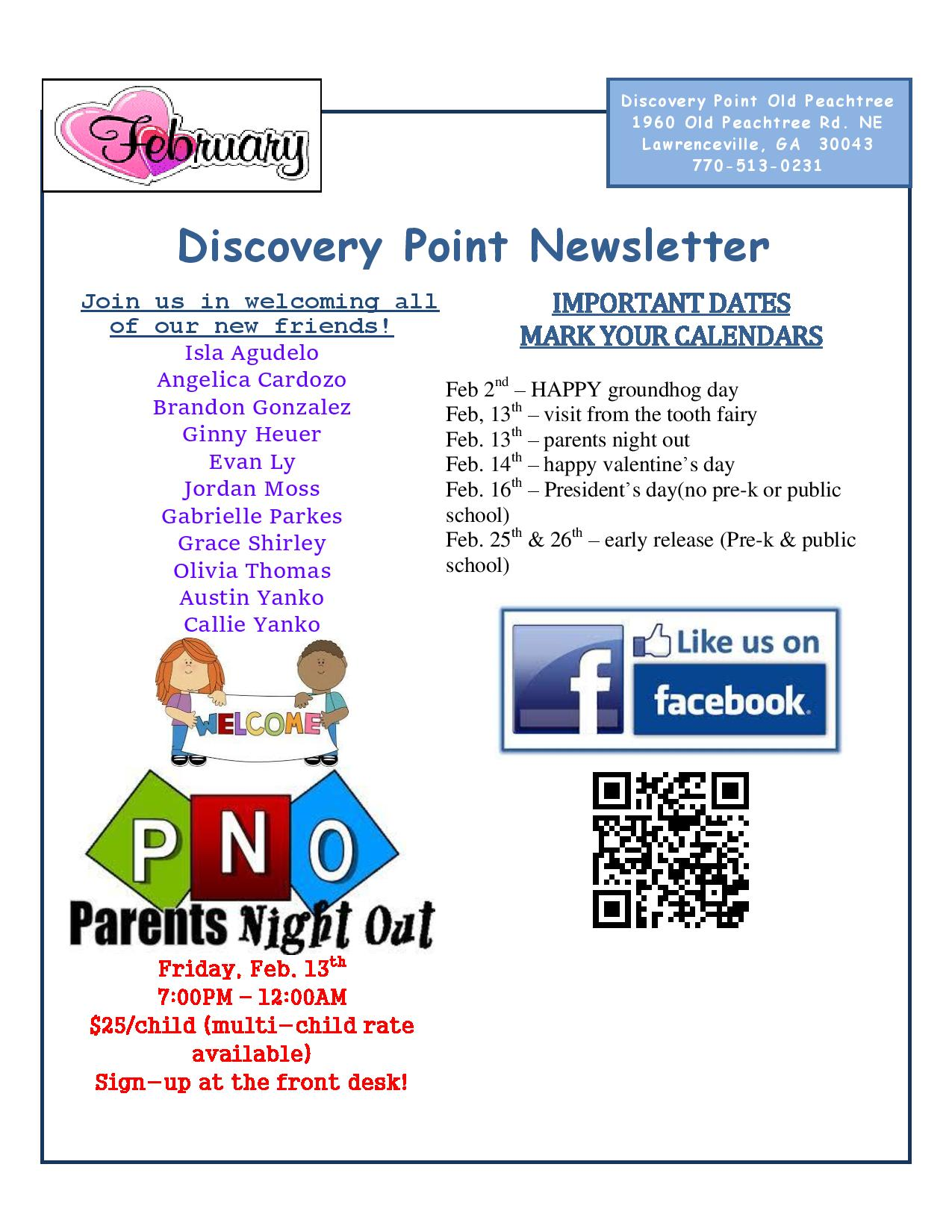 Discovery Point Old Peachtree February 2015 Newsletter Page 1