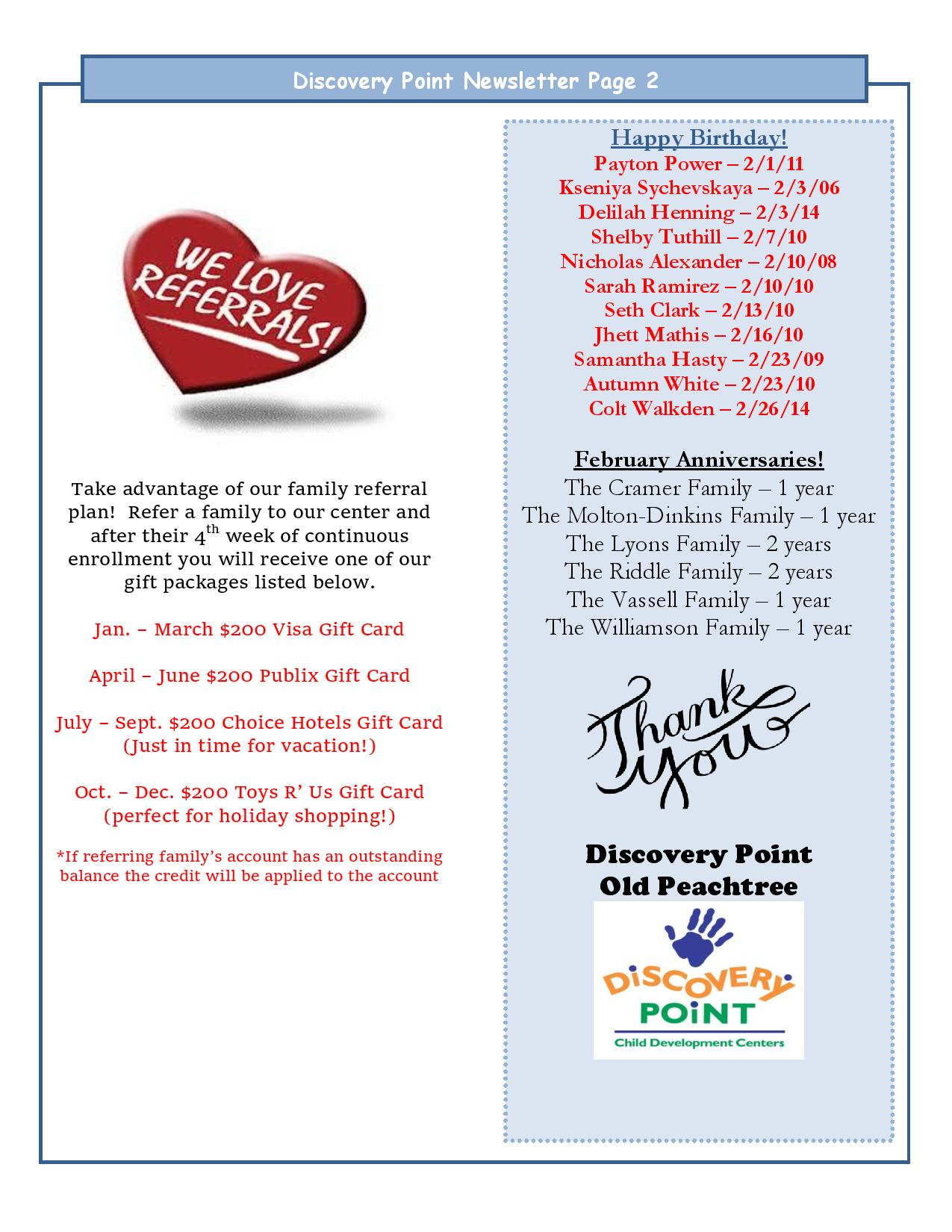 Discovery Point Old Peachtree February 2015 Newsletter Page 2
