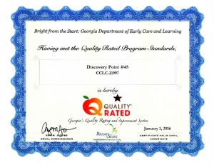 "Discovery Point Old Peachtree ""Quality Rated"" Accreditation"