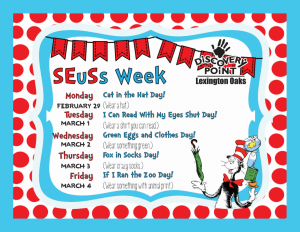 Discovery Point Lexington Oaks Seuss Week
