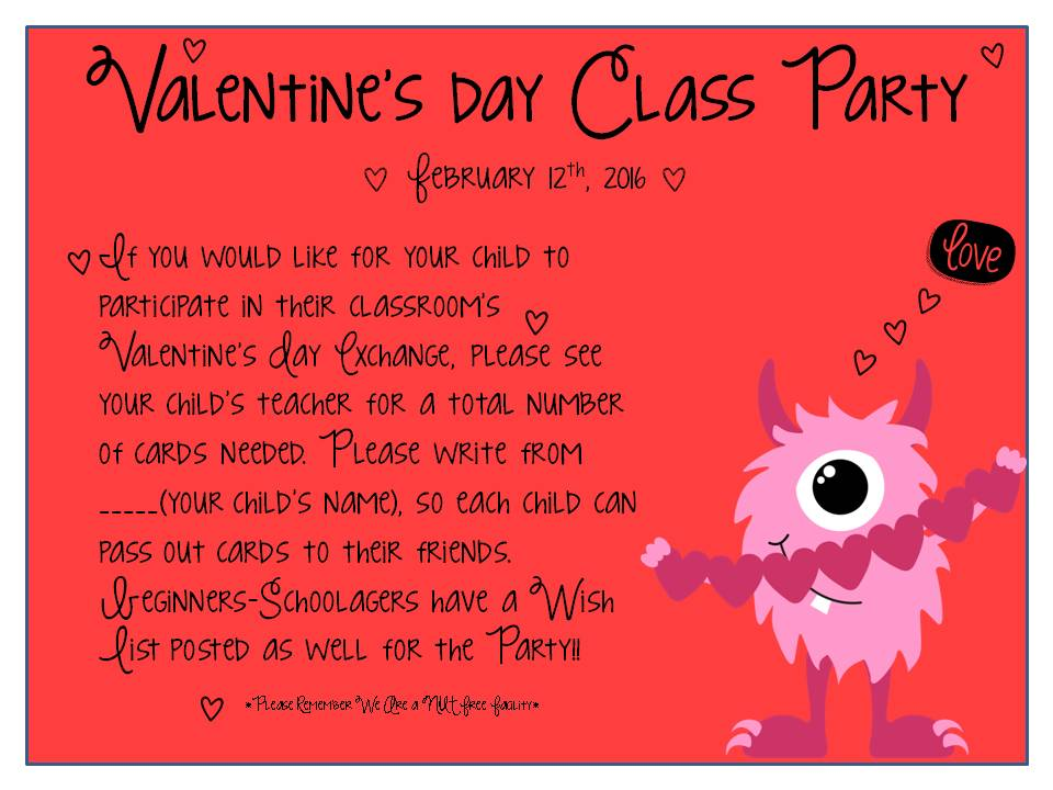 Discovery Point Oakwood Valentine's Day Class Party