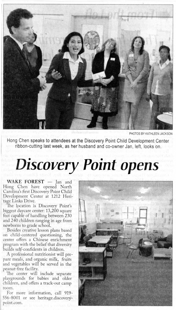 Discovery Point Heritage Ribbon Cutting News Article