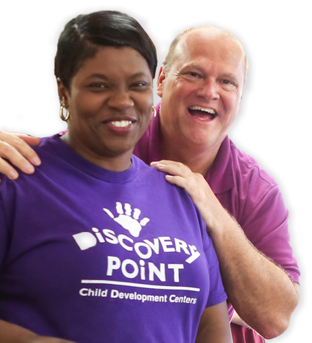 Couple giving testimonial to Discovery Point /