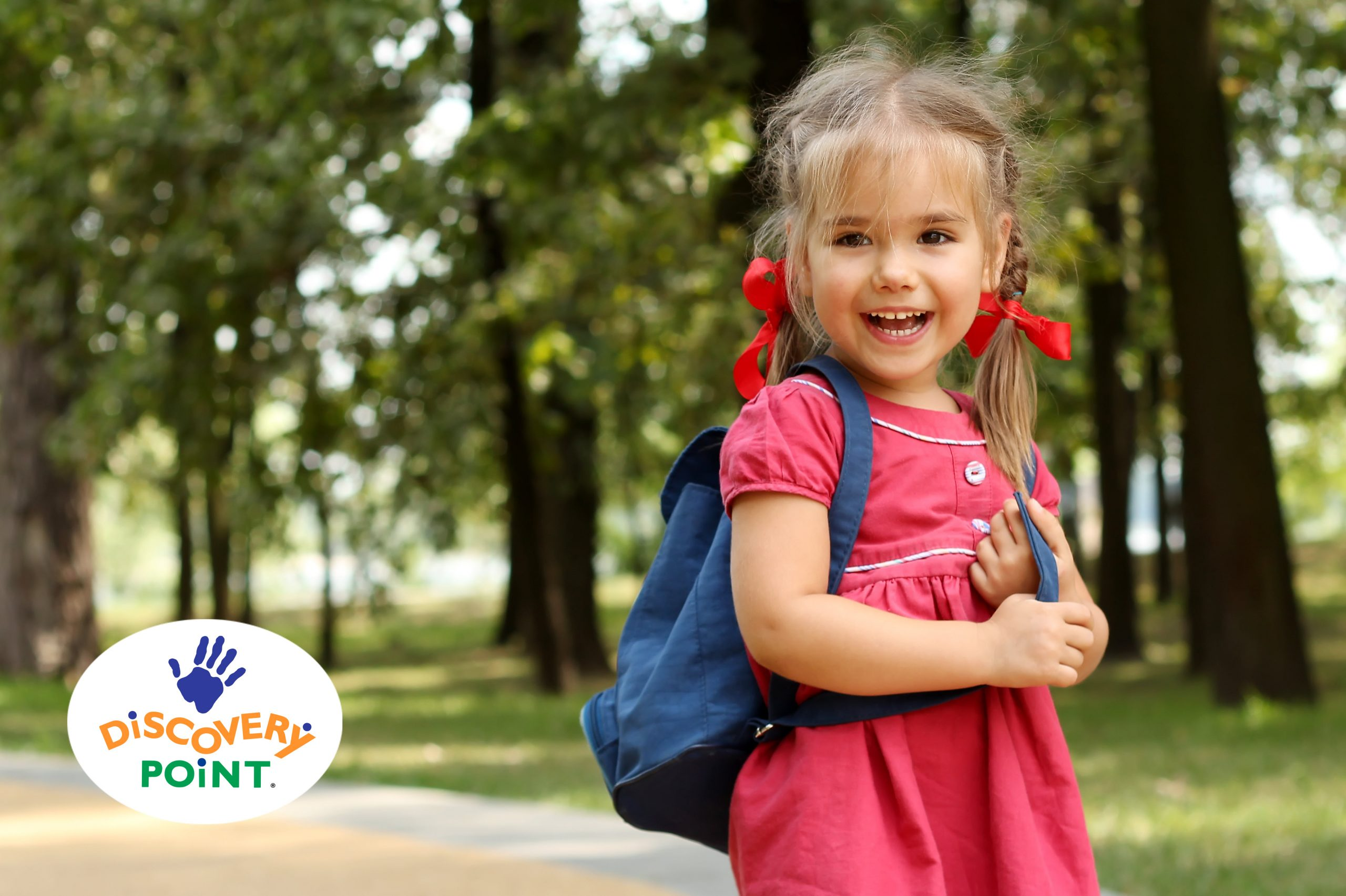 girl prepares for kindergarten to start