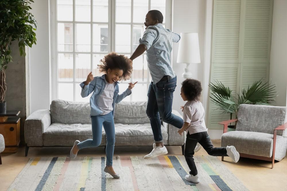 family dances celebrating national dance day in september